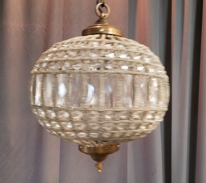 MEDIUM CRYSTAL PRISM GLOBE STYLE CHANDELIER