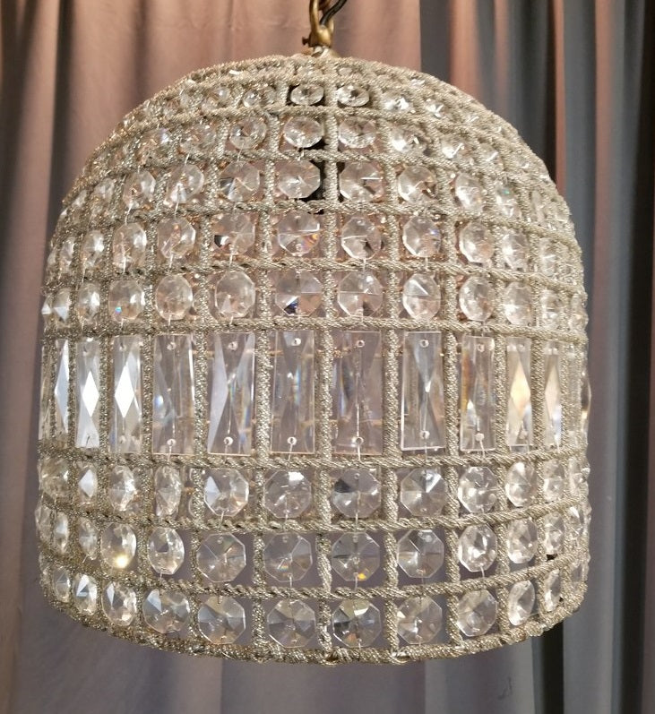 HANGING CRYSTAL LAMP SHADE LIGHT