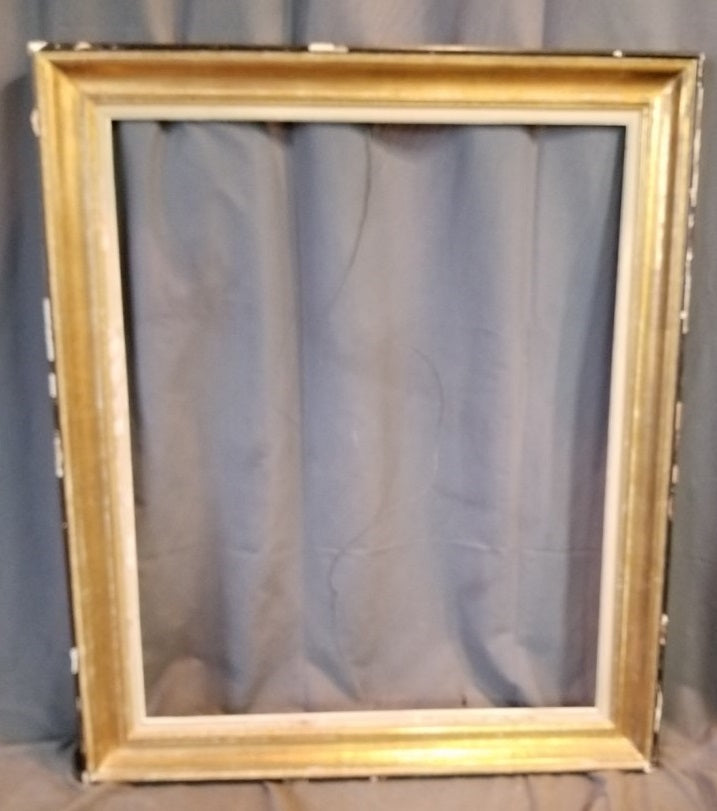 AS IS BLACK AND GOLD VINTAGE FRAME