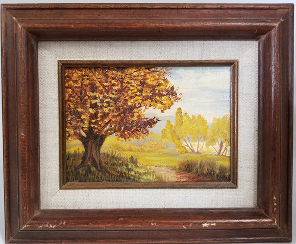 SMALL FALL LANDSCAPE OIL PAINTING