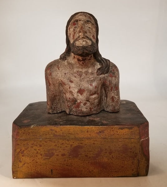 SMALL WOOD BUST OF JESUS