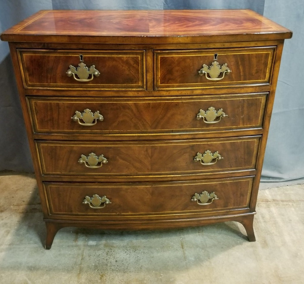 FEDERAL STYLE BOWFRONT CHEST WITH 5 DRAWERS