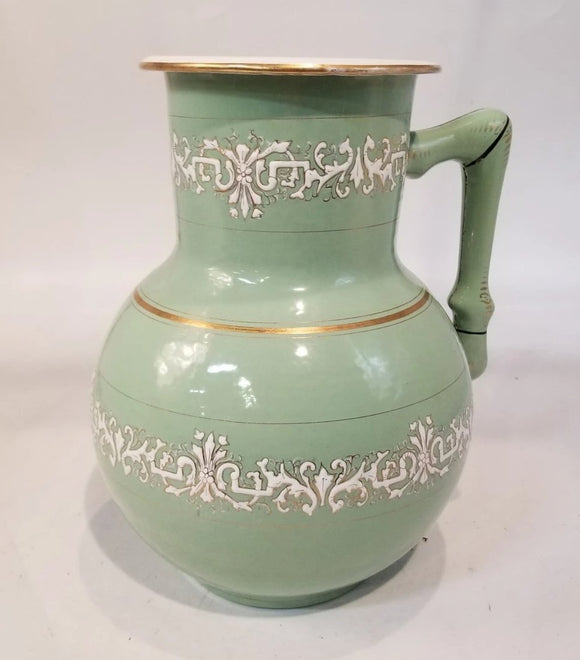 FRENCH ENAMELWARE PITCHER
