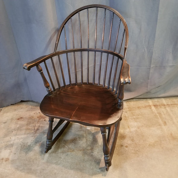 WINDSOR STYLE OAK ROCKER