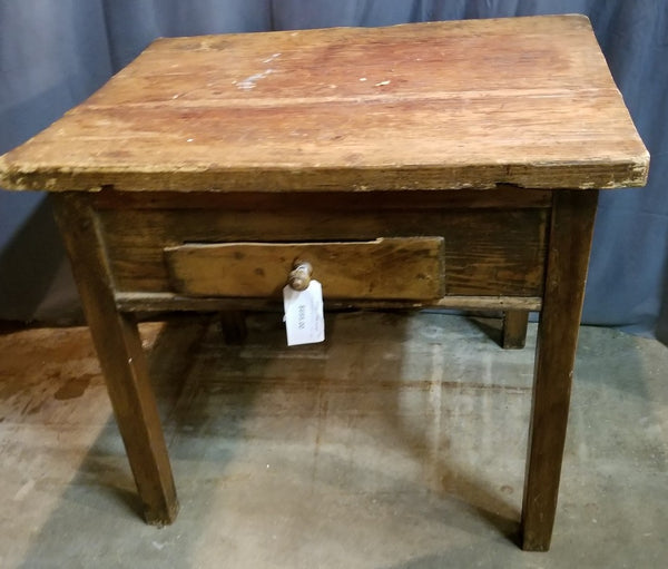 LARGE RUSTIC PINE TABLE WITH DRAWER