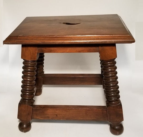 SPANISH WALNUT TABORET OR JOINT STOOL