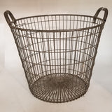 HEAVY GALVANIZED WIRE BASKET