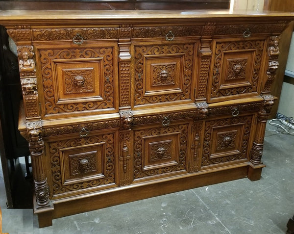 MECHILEN LONG 2 PIECE CABINET WITH LIONS