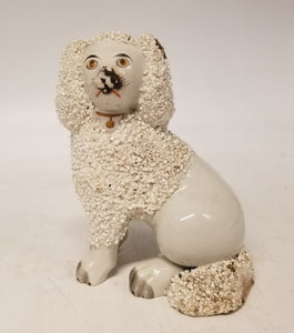SMALL 1890'S STAFFORDSHIRE DOG