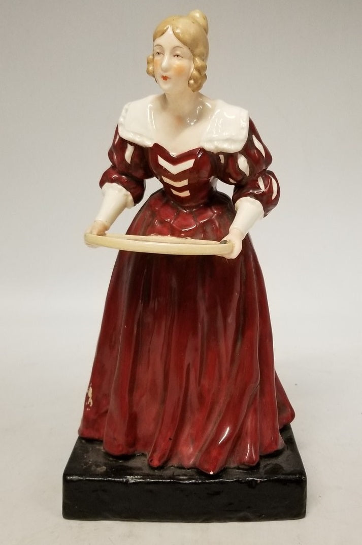 CZECH LADY FIGURE CARD HOLDER