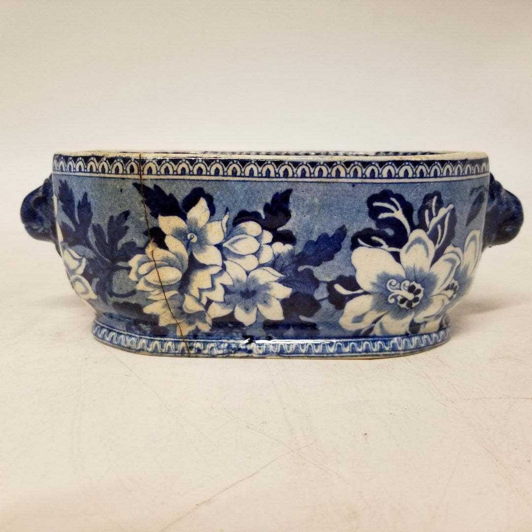 STAFFORDSHIRE BLUE WILLOW SALESMAN SAMPLE FOOT BATH