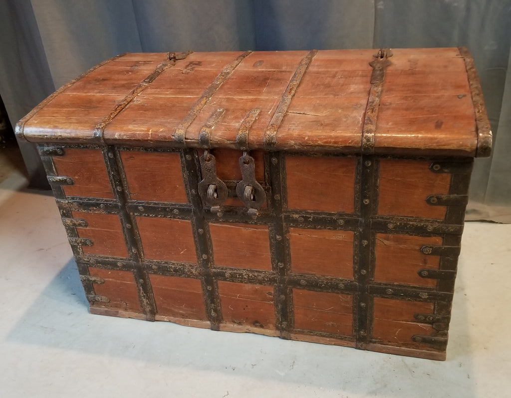 EARLY INDIAN STRONG BOX TRUNK