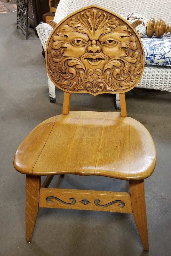 FABULOUS CARVED WIND FACE CHAIR