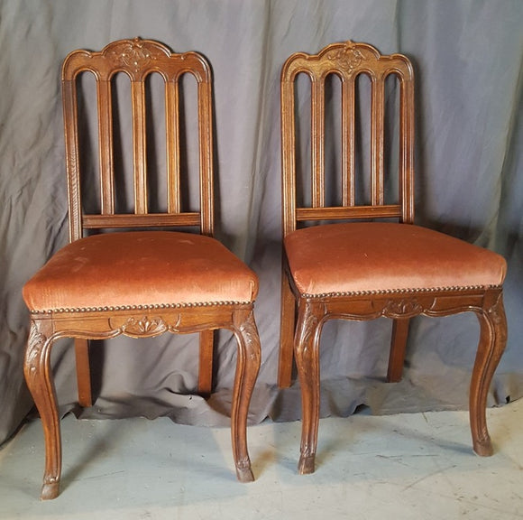 PAIR OF LOUIS XV LOOP BACK SIDE CHAIRS