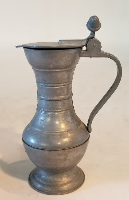 TINY LIDDED PEWTER PITCHER