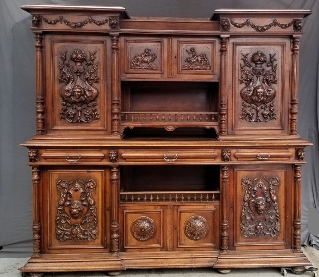 MAGNIFICENT FRENCH CARVED LONG BUFFET