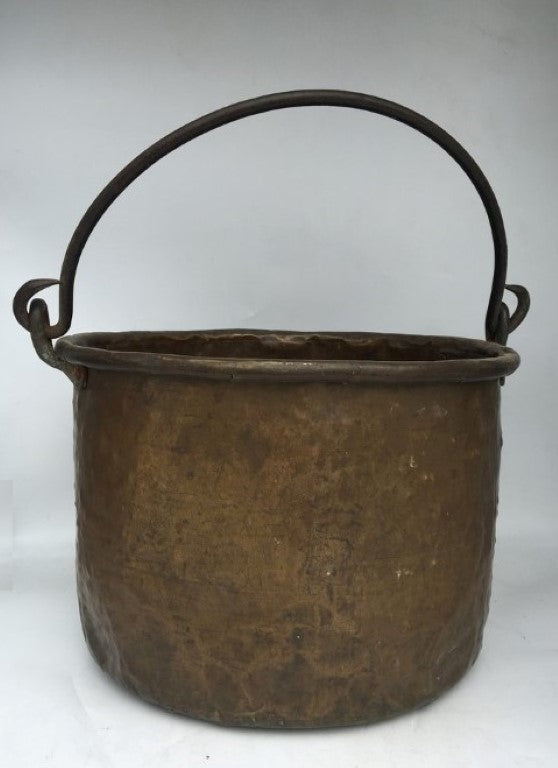 EARLY COPPER JAM POT