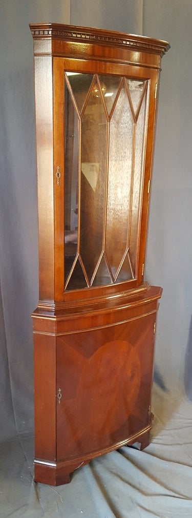 ENGLISH MAHOGANY CORNER CABINET