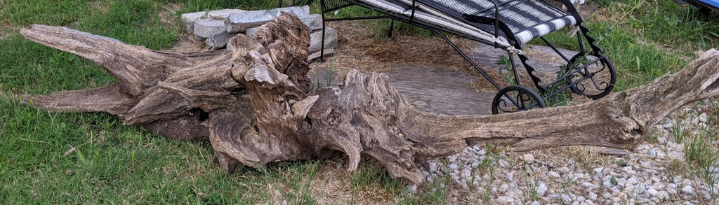 LARGE DRIFTWOOD LOG SCULPTURE