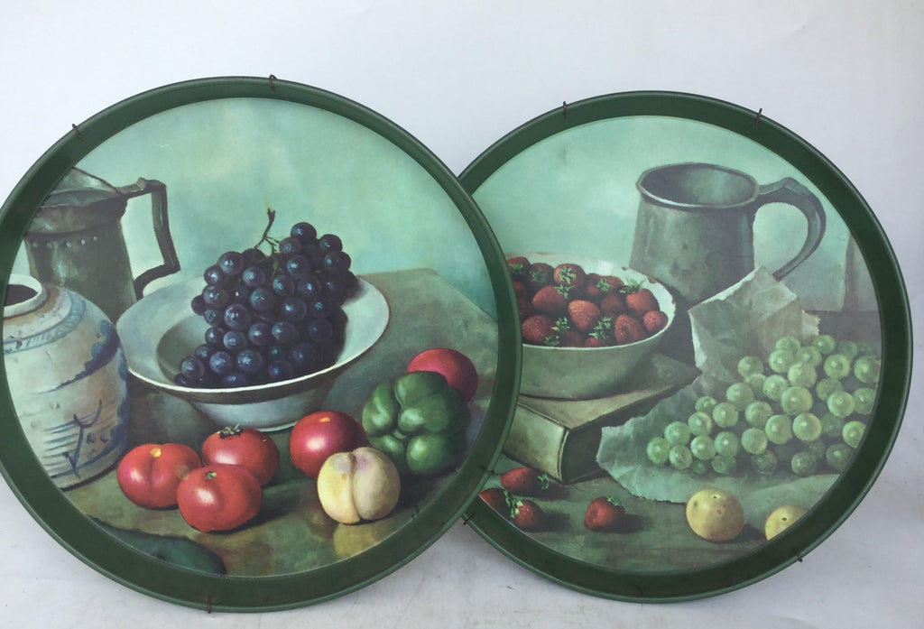 PAIR OF TOLE FRUIT TRAYS