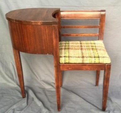 MAHOGANY TELEPHONE BENCH