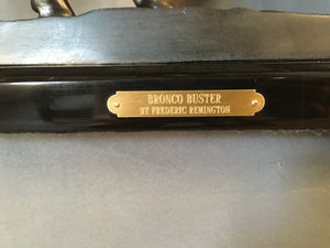 "REMINGTON BRONZE ""BRONCO BUSTER"" RESTRIKE"