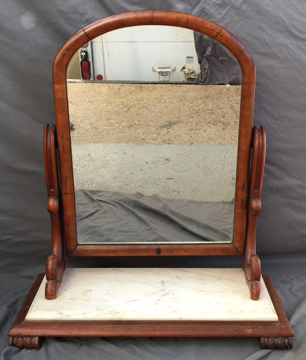MARBLE TOP LATE 19TH CENTURY SHAVING MIRROR