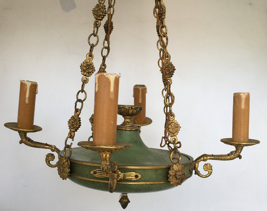 FRENCH EMPIRE STYLE PAN CHANDELIER