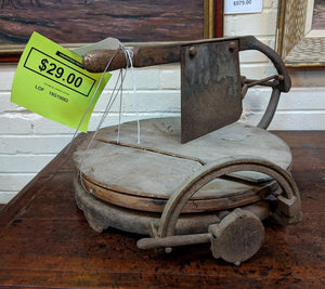 OLD METAL CHEESE CUTTER