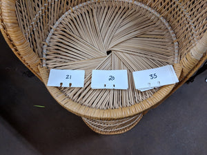 SET OF 3 RATTAN BAR STOOLS
