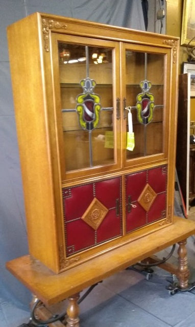 BELGIAN OAK CHINA CUPBOARD OR BACKBAR