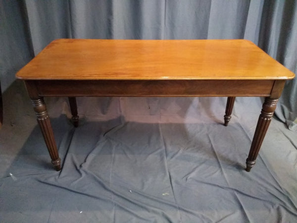 ENGLISH MAHOGANY REEDED LEG DISPLAY TABLE