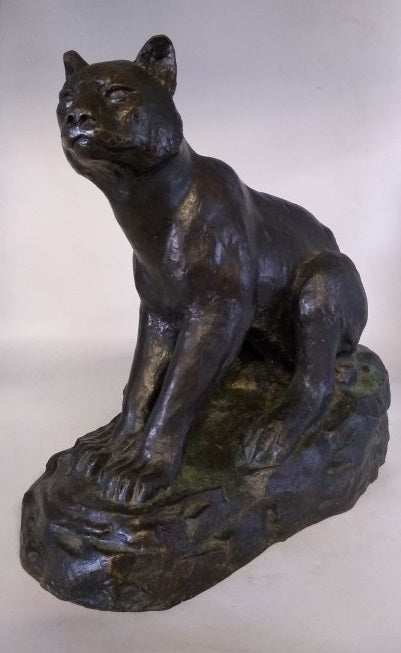 LARGE BRONZE WILDCAT BY JOLLY