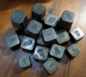 SET OF 10 METAL STAMPS
