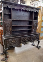 19TH CENTURY ENGLISH OAK CARVED WELSH CUPBOARD