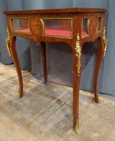 LOUIS XV ORMOLU MOUNTED VITRINE TABLE