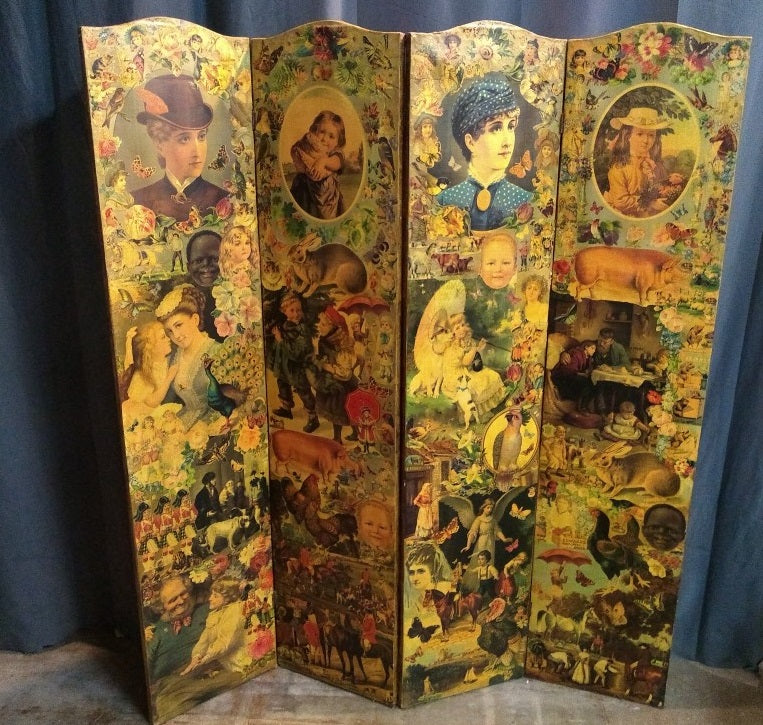 ENGLISH DECOUPAGE SCREEN