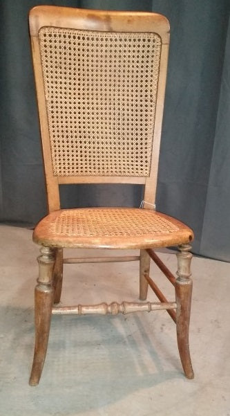 SIMPLE CANED CHAIR