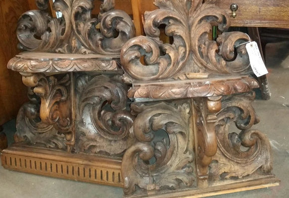 PAIR OF FINELY CARVED ITALIAN WALL BRACKETS