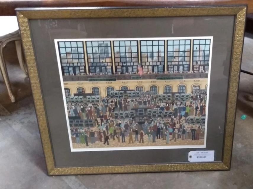 SIGNED AND NUMBERED WALL STREET PRINT BY WOOSTER SCOTT