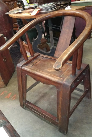 QING DYNASTY HORSE SHOE BACK ARM CHAIR