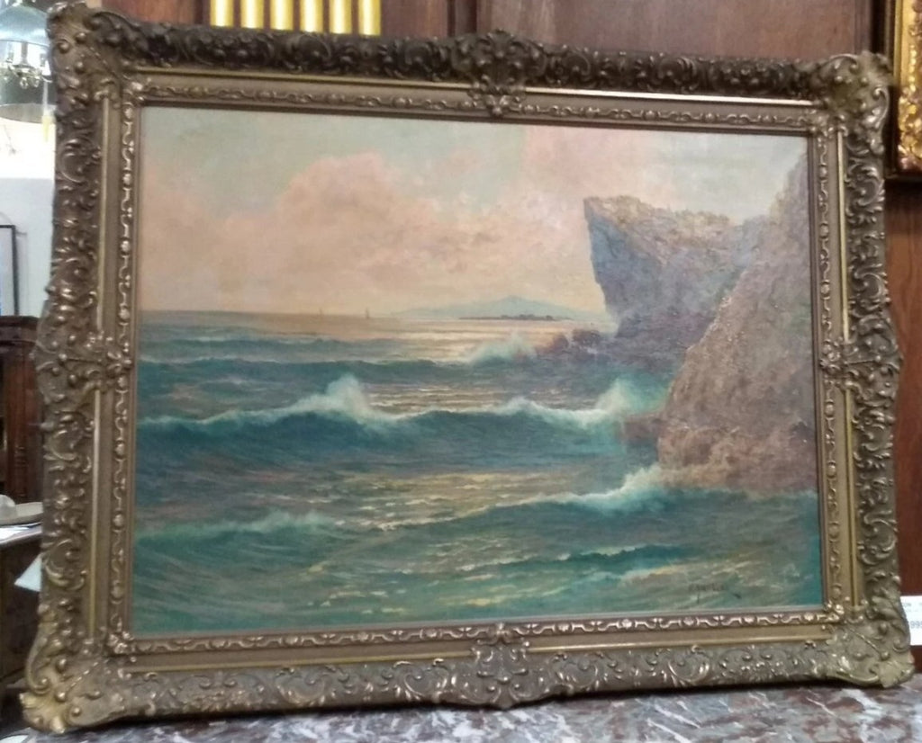SEA SCAPE OIL PAINTING-SIGNED