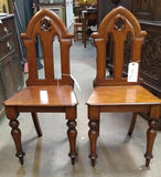 PAIR OF ENGLISH GOTHIC WALNUT CHAIRS