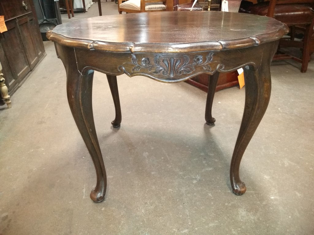 LARGE ROUND COUNTRY FRENCH SIDE TABLE