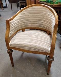 FRENCH DECO CURVED CHAIR WITH LOW BACK