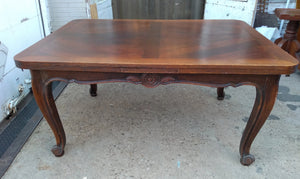 LOUIS XV FRENCH OAK DRAWLEAF TABLE