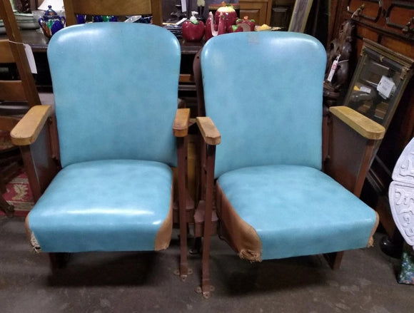PAIR OF DECO THEATRE CHAIRS