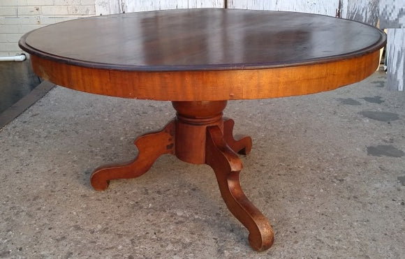 ROUND PEDESTAL COFFEE TABLE