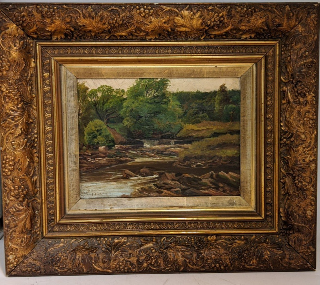 ANTIQUE OIL PAINTING IN ORNATE FRAME