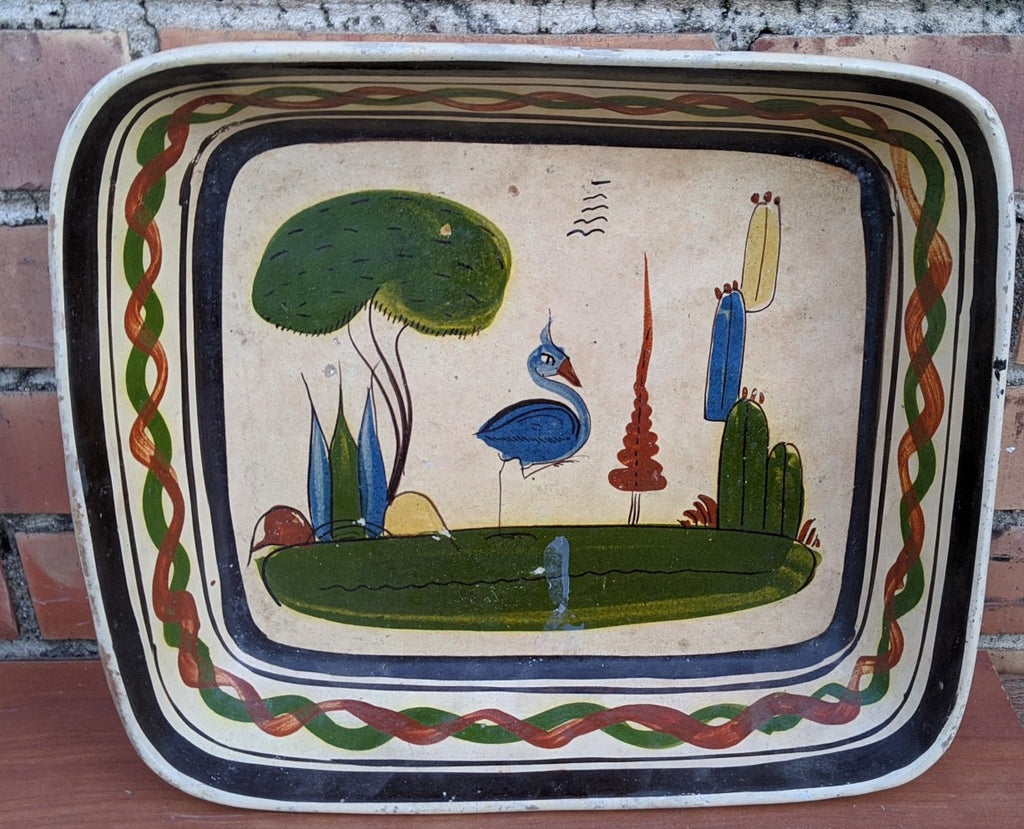 MEXICAN RECTANGULAR POTTERY BOWL